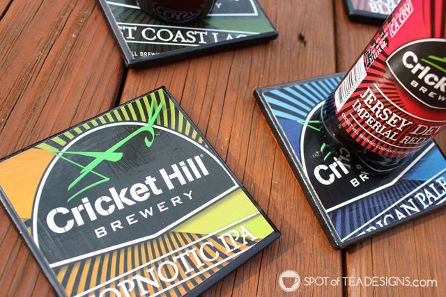 DIY #FathersDay Gift Idea: Turn beer 6 packs into beer coasters.   spotofteadesigns.com