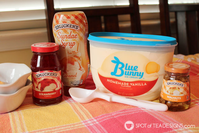 Smuckers Toppings and Blue Bunny Ice Cream are better together! #ad #cbias #topyoursummer #sohoppinggood | spotofteadesigns.com