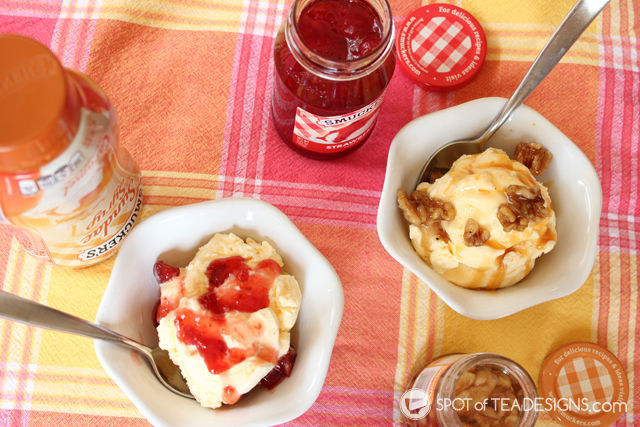 Smuckers Toppings and Blue Bunny Ice Cream are better together! #ad #cbias #topyoursummer #sohoppinggood   spotofteadesigns.com