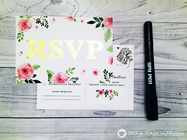 Wedding Invitation RSVP Tip: Spy Pen Numbering! - be discrete in how you keep track of your RSVPs. #wedding #weddinginvitations #tipsandtricks | spotofteadesigns.com