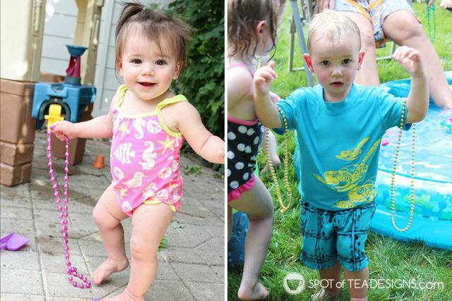 Under the sea #birthdayparty - burried treasure in the sandbox activity | spotofteadesigns.com