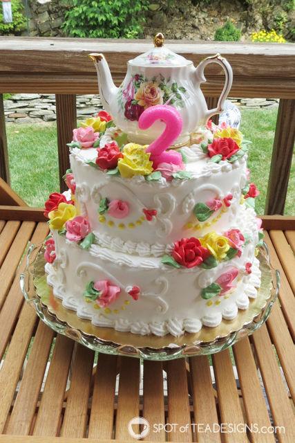 Tea for Two 2nd Birthday Party - tea cake | spotofteadesigns.com