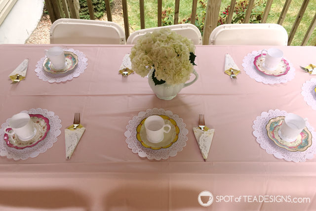 Tea for Two 2nd Birthday Party - table setup| spotofteadesigns.com