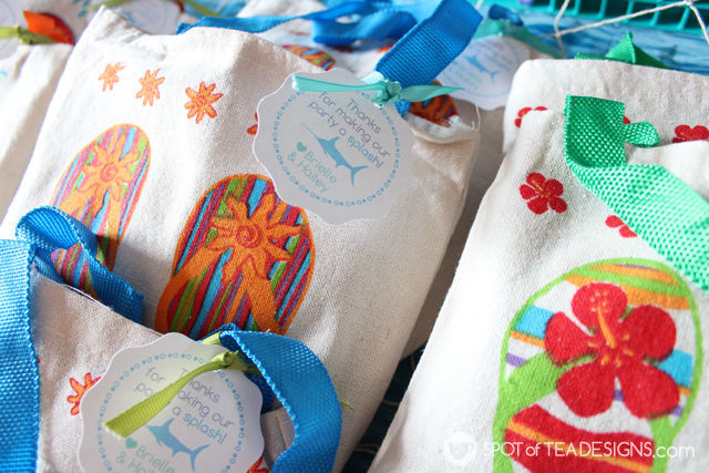 Under the sea #birthdayparty - party favors | spotofteadesigns.com