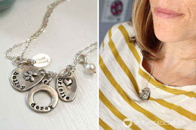 Holiday gift guide - Lisa Leonard personalized hand stamped jewelry - great for sentimental types, like moms! | spotofteadesigns.com