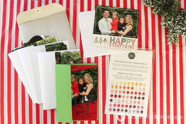 Truly Custom Holiday Cards from @BasicInvite | spotofteadesigns.com
