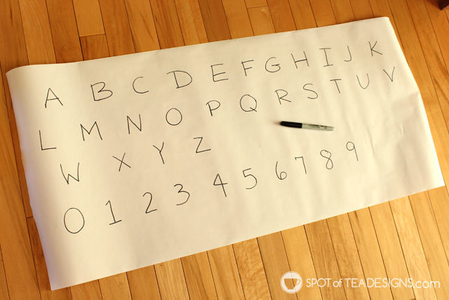 Preschooler activity: easter egg letter hunt. great all year, especially winter! | spotofteadesigns.com
