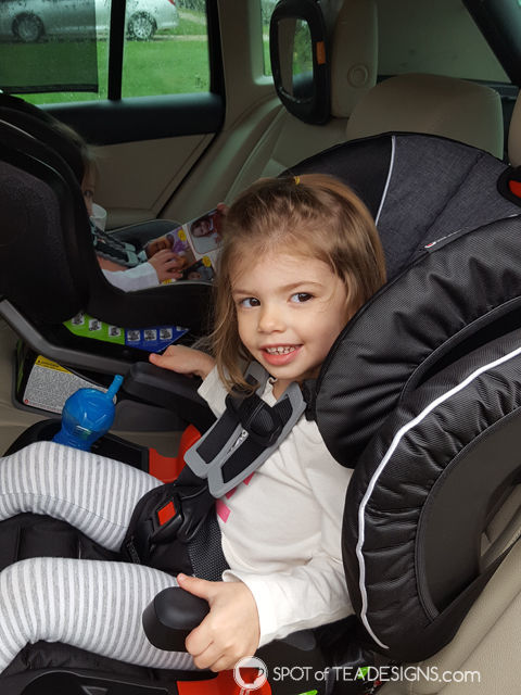 Favorite Products for a 3 year old - mom and toddler approved - booster car seat with cup holders!   spotofteadesigns.com