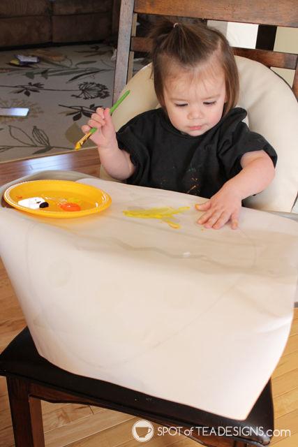 Easter Kids Craft: Conact Paper Resist Easter Eggs | spotofteadesigns.com