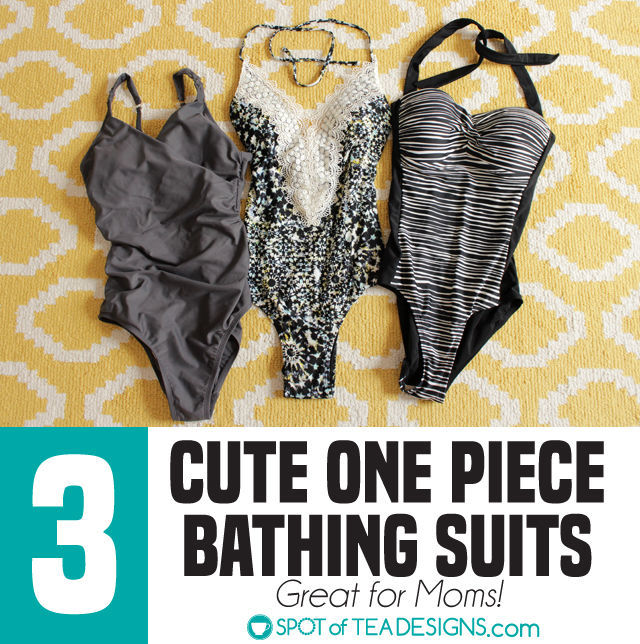 Three cute one piece bathing suit recommendations from Target which are great for moms | spotofteadesigns.com