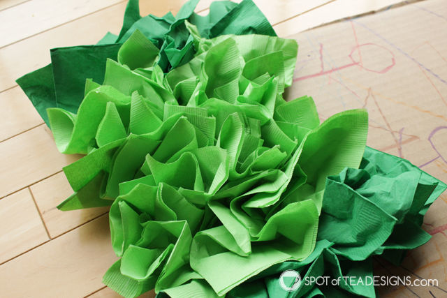Watermelon paper napkin party backdrop tutorial - cheap party decor! | spotofteadesigns.com