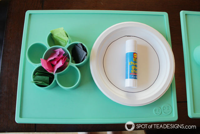 Watermelon paper plate gift tags kids craft | spotofteadesigns.com