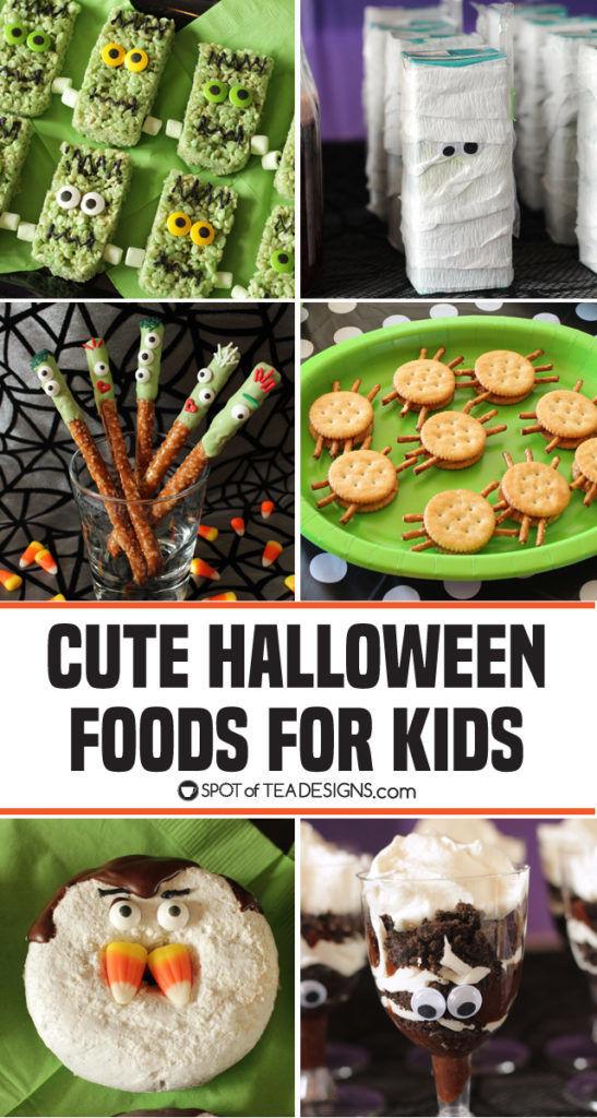 Cute Halloween Food ideas for Kids | spotofteadesigns.com