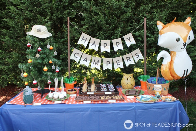 9 Summer Party Themes - outdoor camping adventures | spotofteadesigns.com
