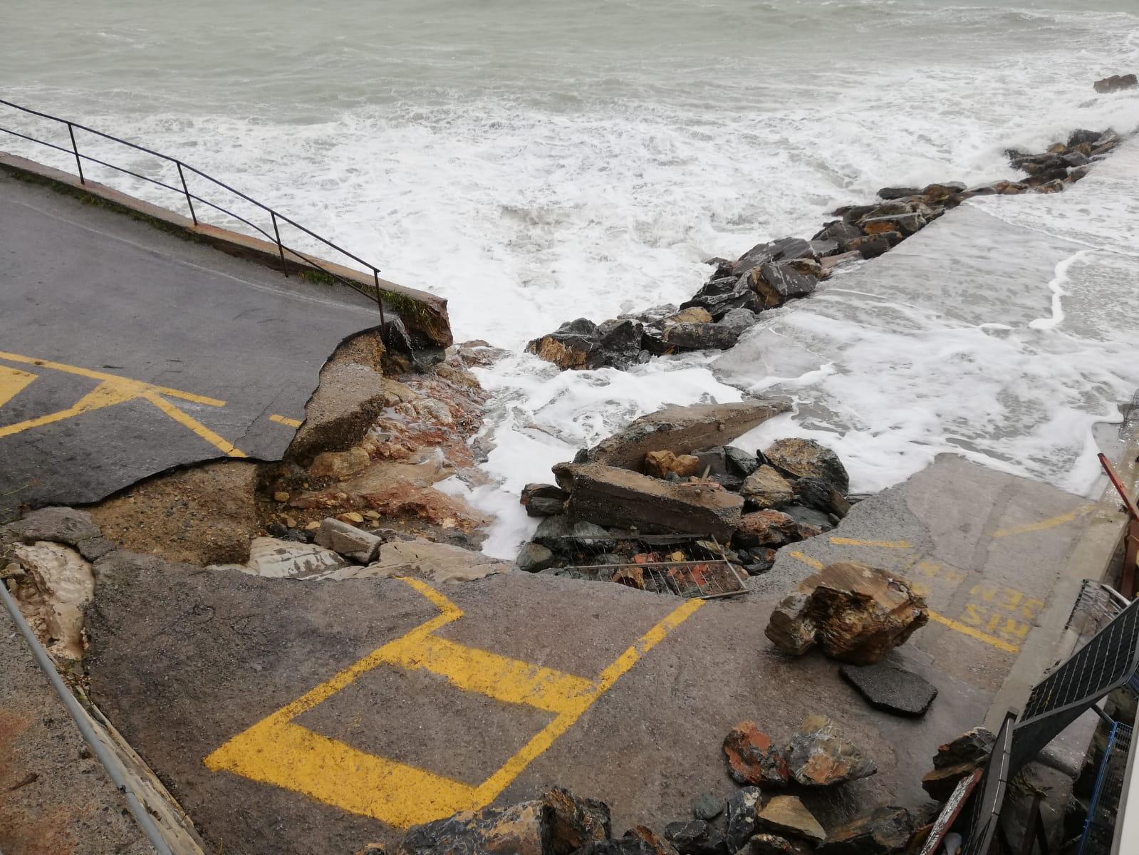 Merello, spiagge devastate e sommerse dalla sabbia (VIDEO)
