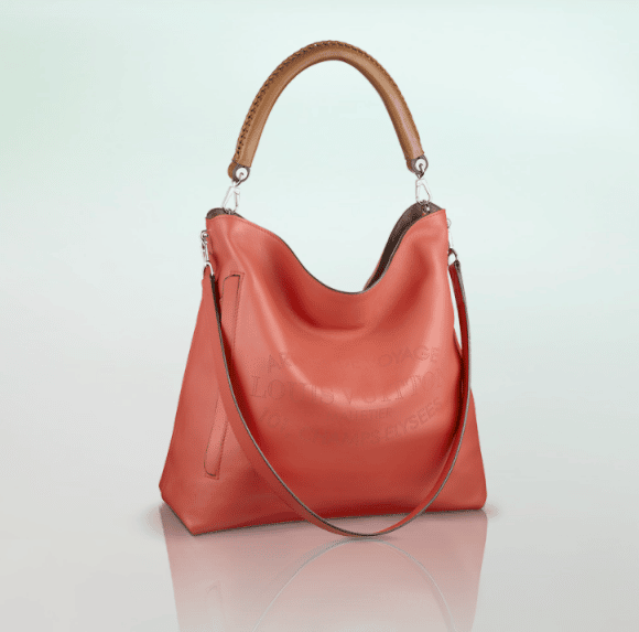 Leather Hobo Handbag Metallic