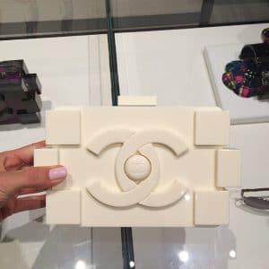 Chanel White Lego Bag - Spring 2014