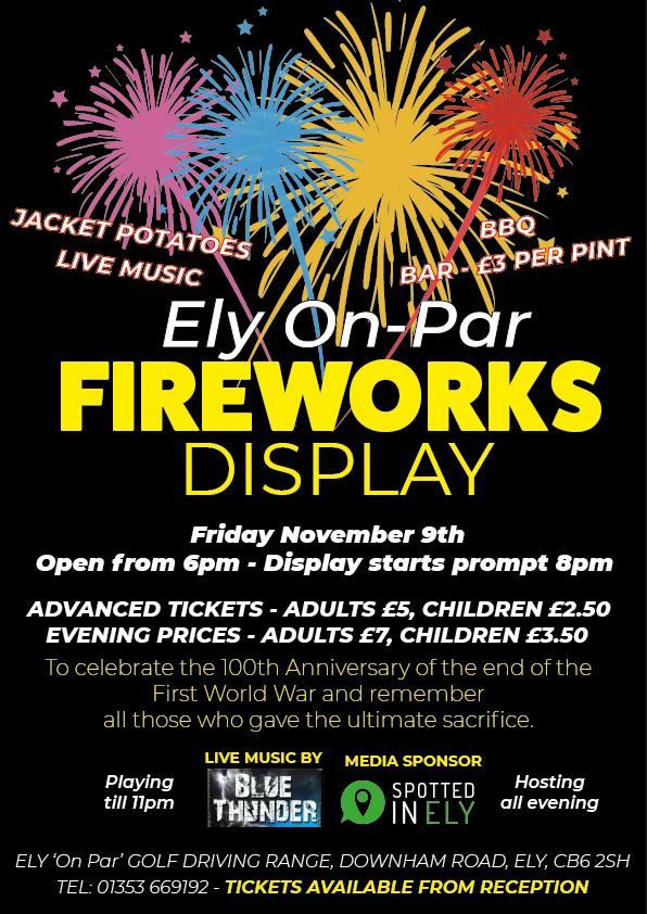 ely on par fireworks display spotted in ely