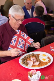 Les gets the Super Breakfast at Veterans Breakfast