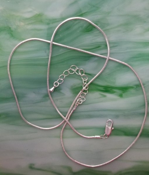 Silver Plated Snake Necklace Chain with Extender