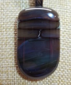 Petrified Wood Glass Pendant