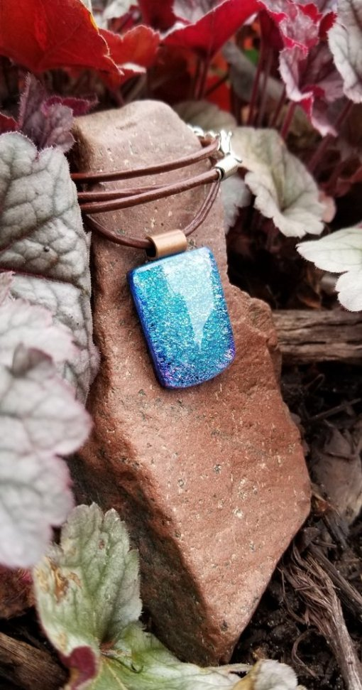Turquoise Dichroic Pendant