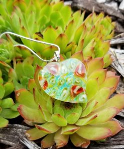 Millefiori and Dichroic Heart Pendant