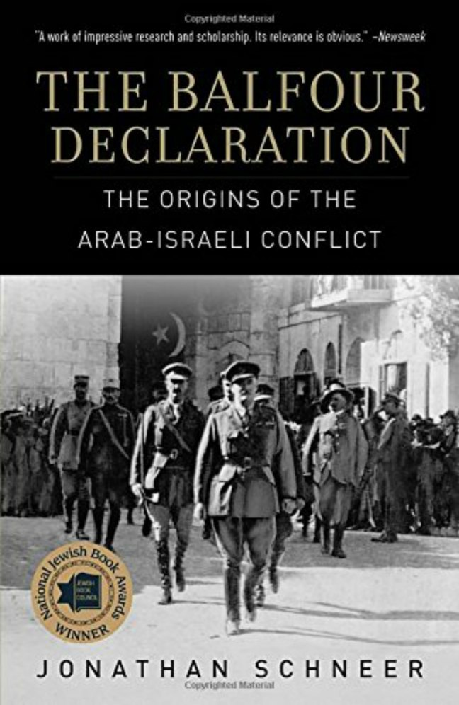 Book cover, The Balfour Declaration: The Origins of the Arab-Israeli Conflict, by Jonathan Schneer
