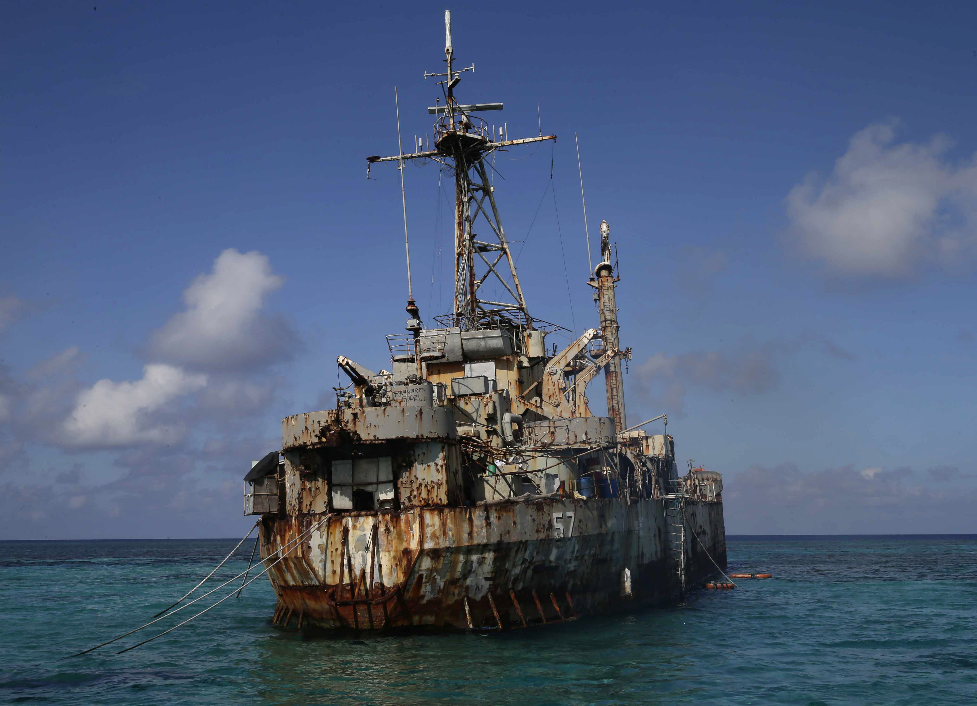 China warns Philippines over repairs to grounded ship on Spratly reef outpost