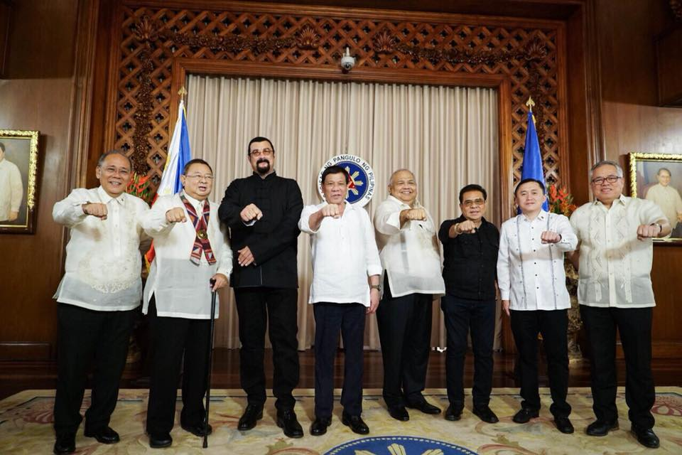 ENFORCER AND PUNISHER – Steven Seagal agrees, Duterte is good for PH, pays courtesy call