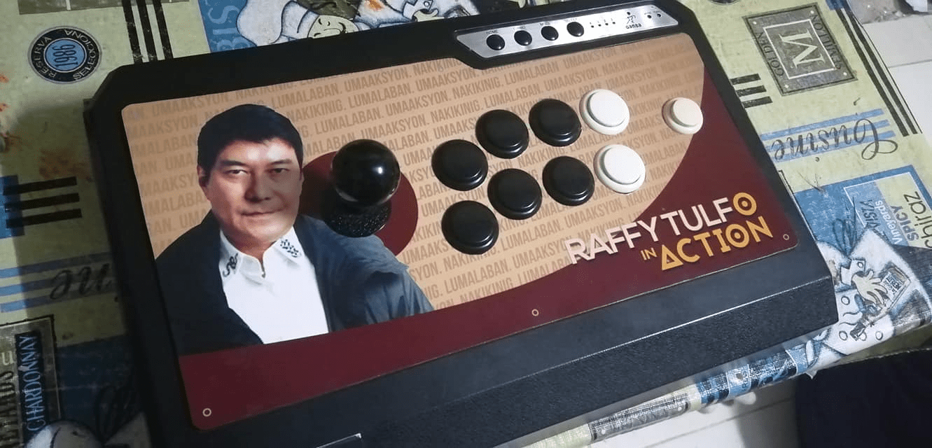 LOOK: A fan-made RAFFY TULFO in ACTION arcade stick