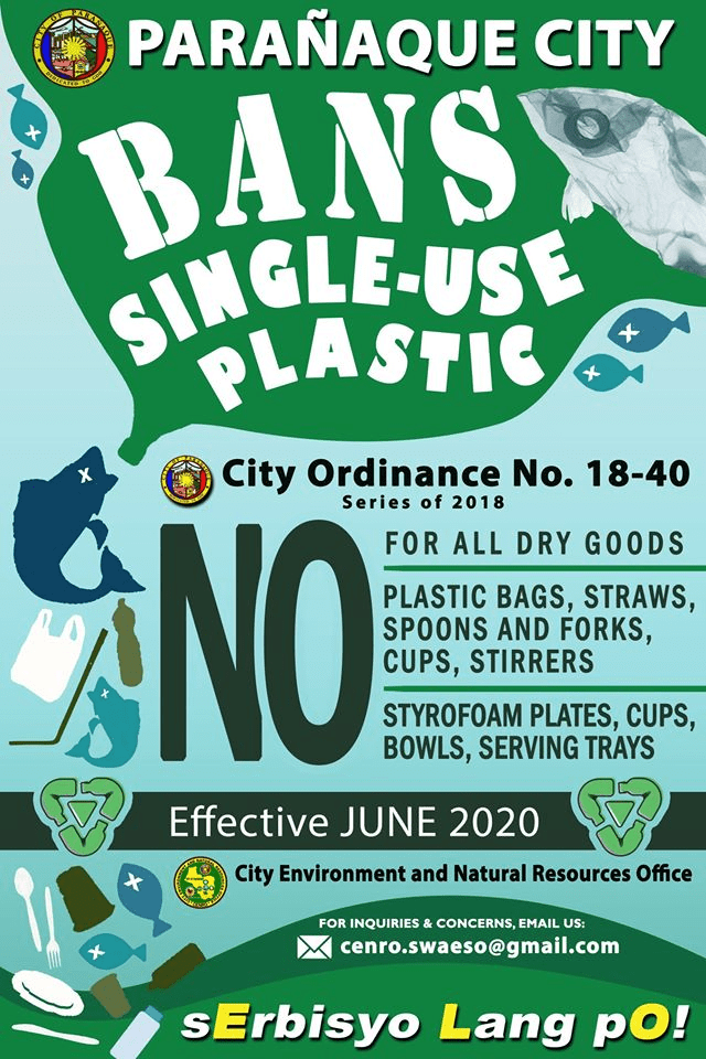 Parañaque City to ban plastic bags by June 2020