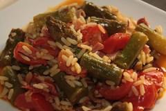 Ryż z szparagami