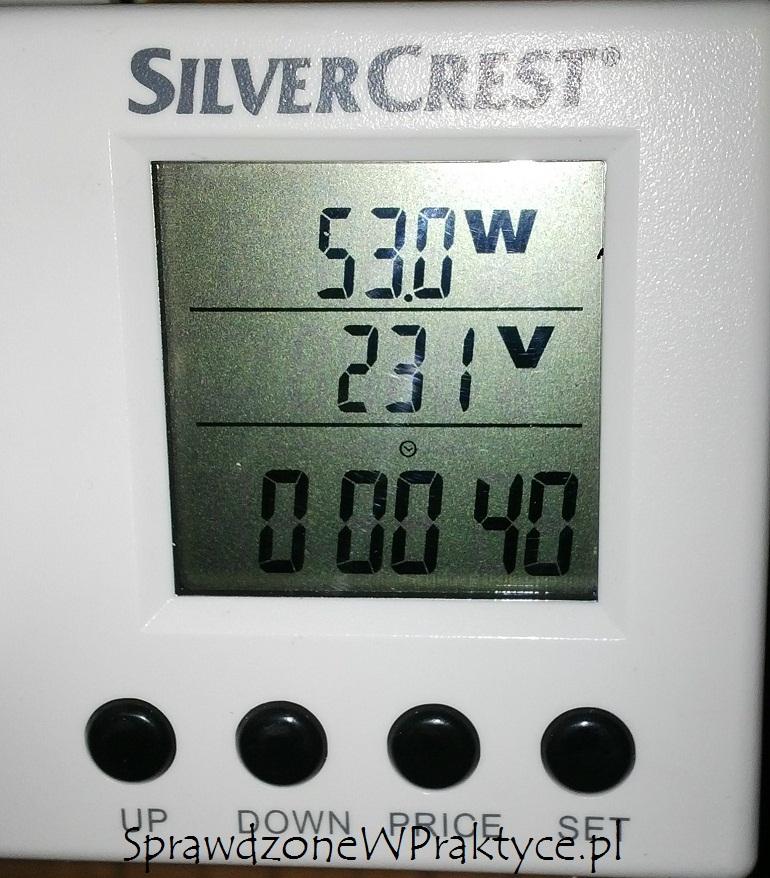moc pobierana przez pompę solarną