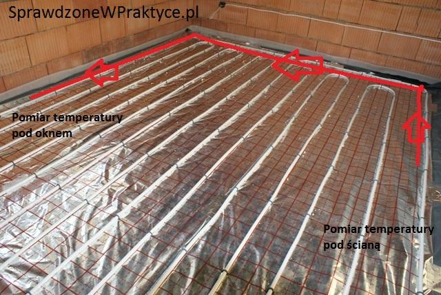rozkład rurek w ogrzewaniu podłogowym