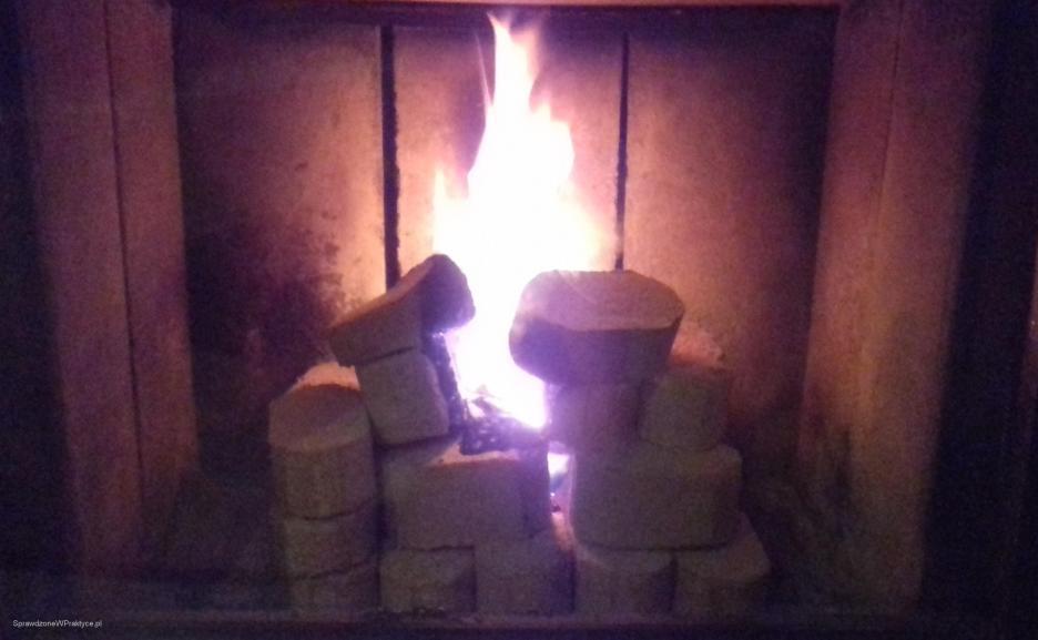 Płonący brykiet miniRUF