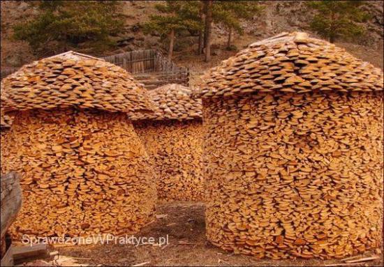 drewno ułożone w stos
