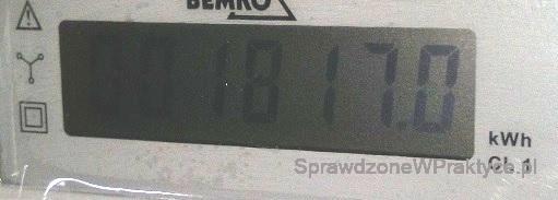 Licznik energii elektrycznej ogrzewanie 06.12.2020