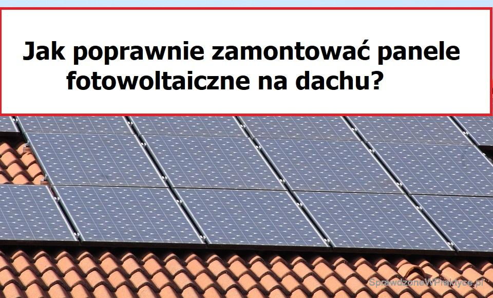 montaż Paneli PV na dachu