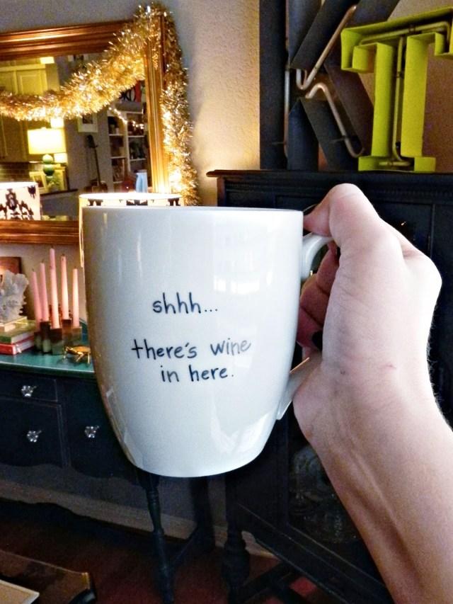 DIY: Coffee Mug  Spray Paint & Chardonnay