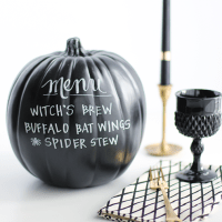DIY: Chalkboard Paint Pumpkin