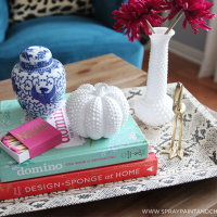 DIY: Hobnail Milk Glass Pumpkin