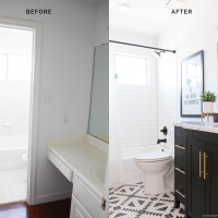 BEFORE & AFTER: GUEST BATHROOM