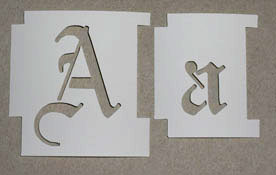 Large Spray Paint Letter Stencils | Home Painting