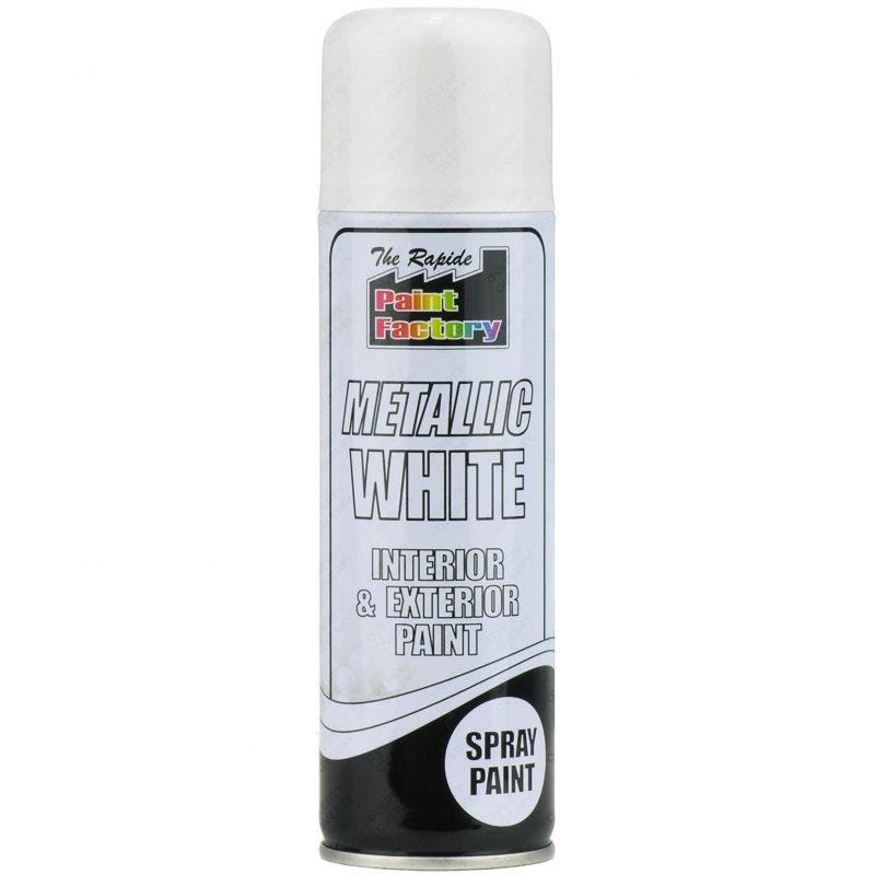 White Metallic Spray Paint 250ml