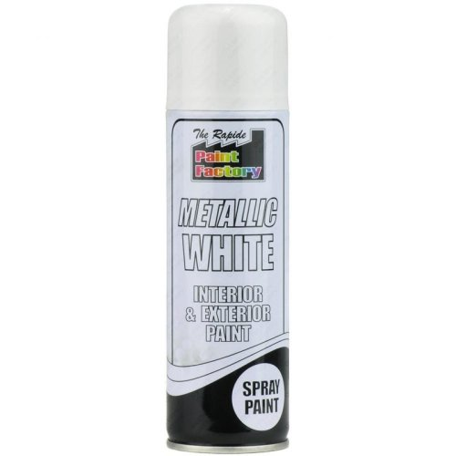 White Metallic Spray Paint 250ml