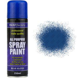 Rapide Blue Gloss Spray Paint All Purpose