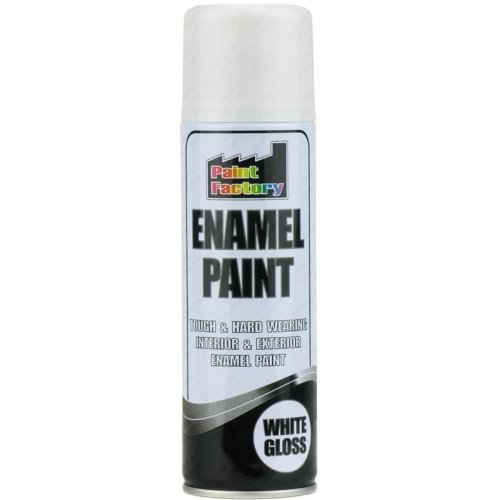 Gloss White Enamel Spray Paint 200ml
