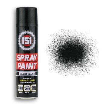 250ml-151-Black-Gloss-Spray-Paint