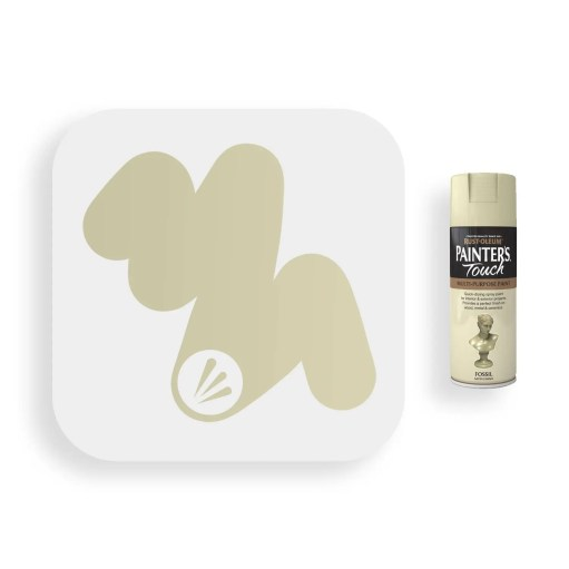 Rust-Oleum-Fossil-Beige-Satin-Spray-Paint-400ml-Painters-Touch-Swatch